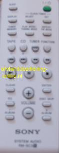 Sony afstandsbediening code